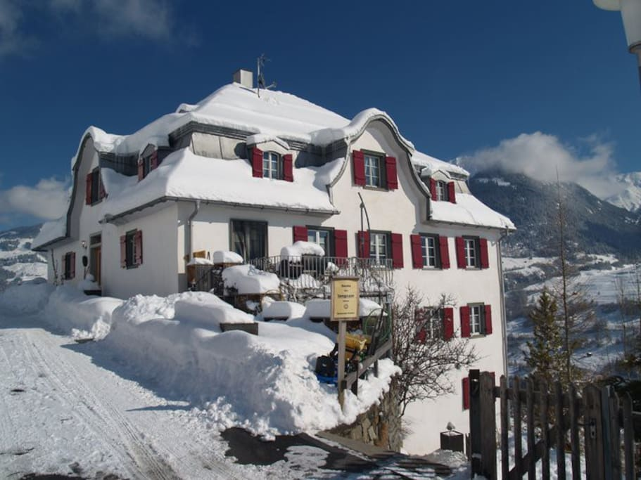 Casa Porclas im Winter