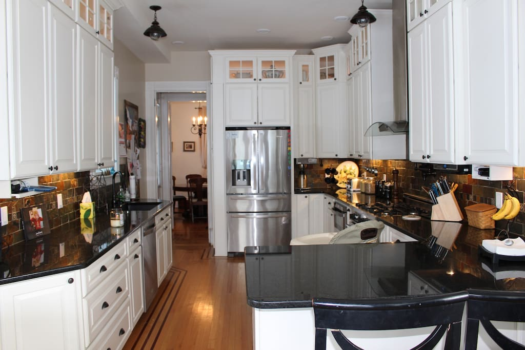 Wouldn't you love to wake up in the morning and enjoy a fresh cup of coffee from the built in coffee maker or utilize the 5 burner professional gas stove in this 2013 newly renovated kitchen.