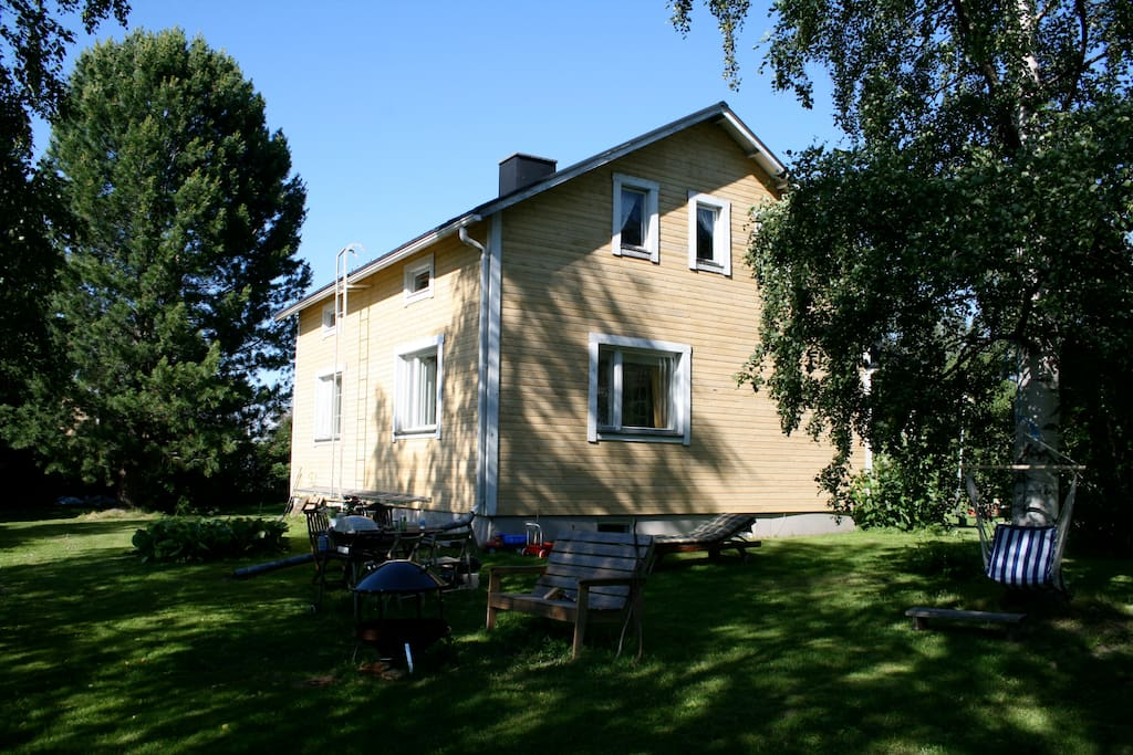 Traditional Finnish three story wooden house, fully renovated.