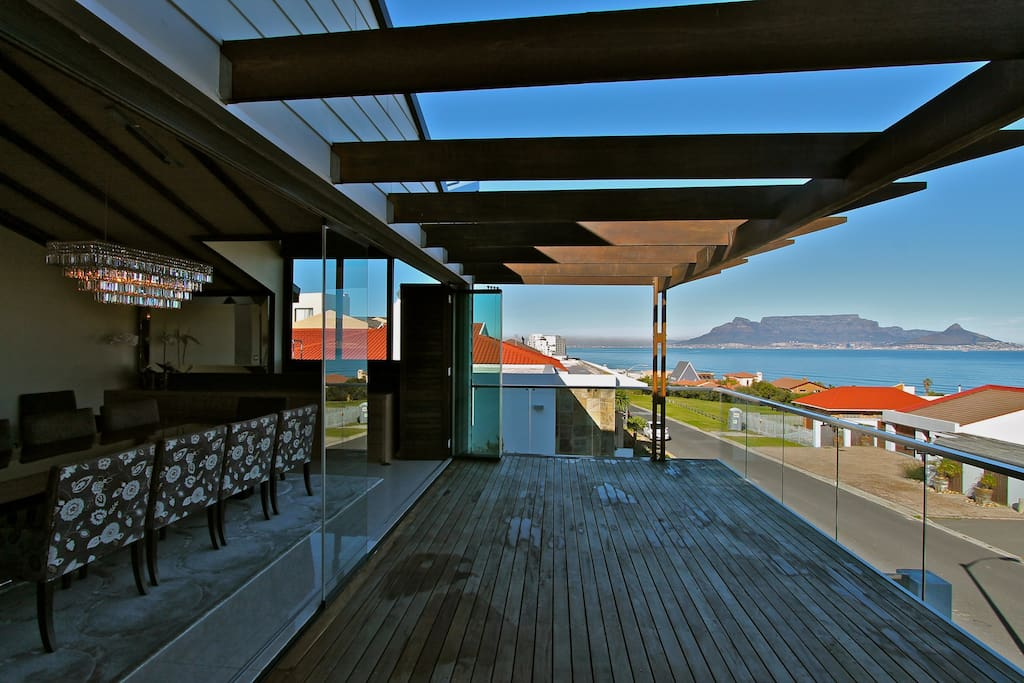 Terrace with views of Table Mountain