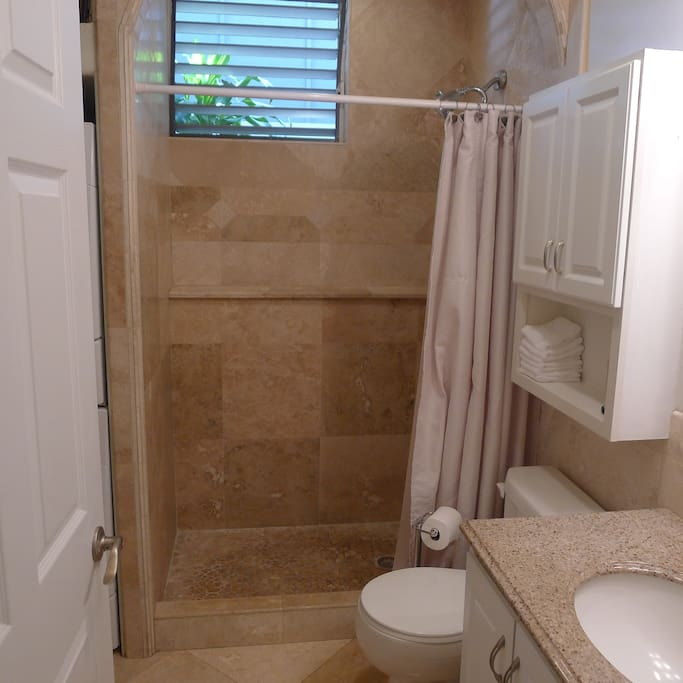 1 Bath with Shower and Washer/Dryer