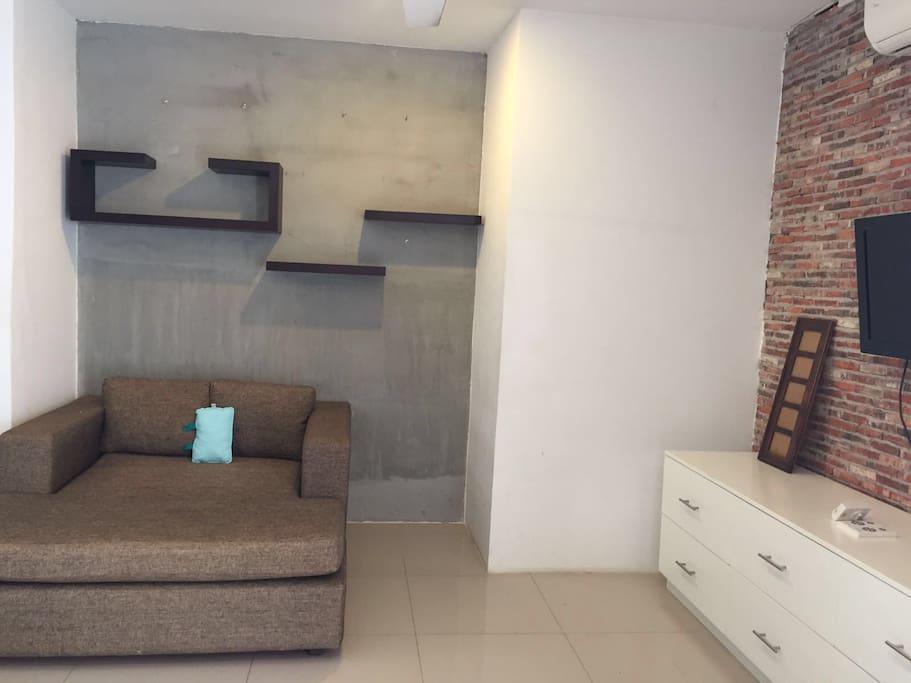 Modern and spacious living room