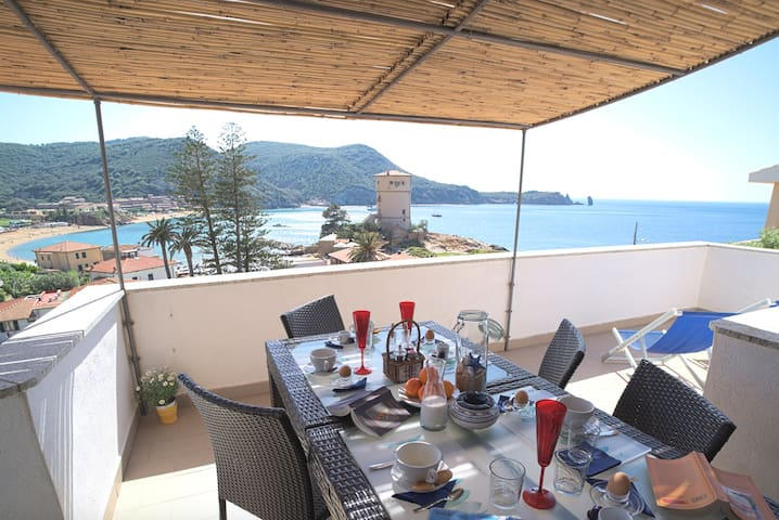 Villa Manzoni – Cala Monella apartment (Sea View)