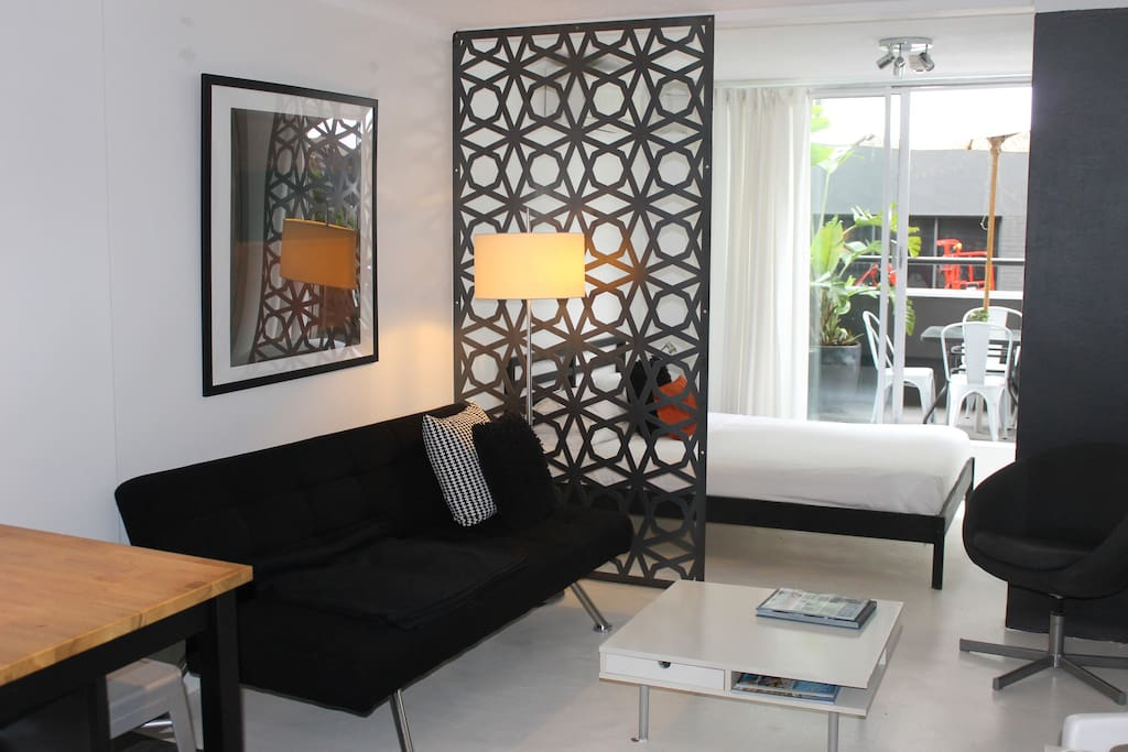Living and bed alcove