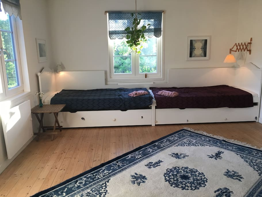 Your room, with two extra beds in the drawers underneath