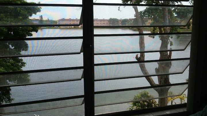 Charming studio with lake view.
