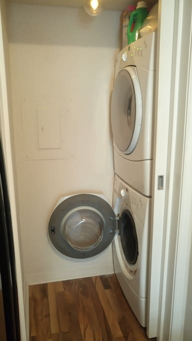 Washer and Dryer Available for Extended Stay Guests