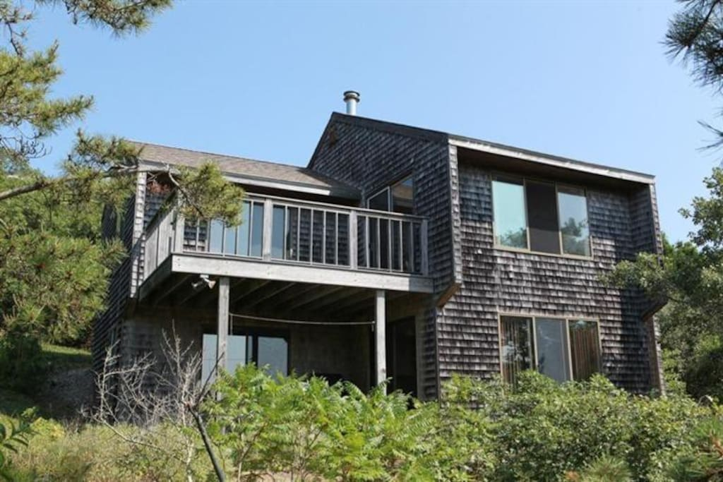 Front of house - built into the hillside