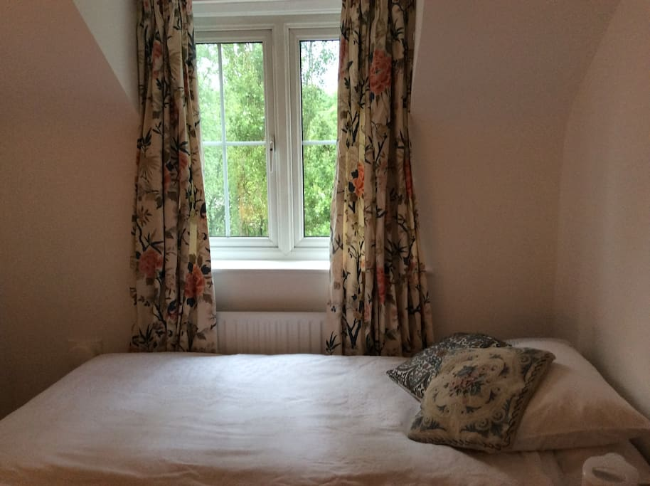 Freshly cleaned soft furnishings - curtains and cushions - bring changes to the rooms.