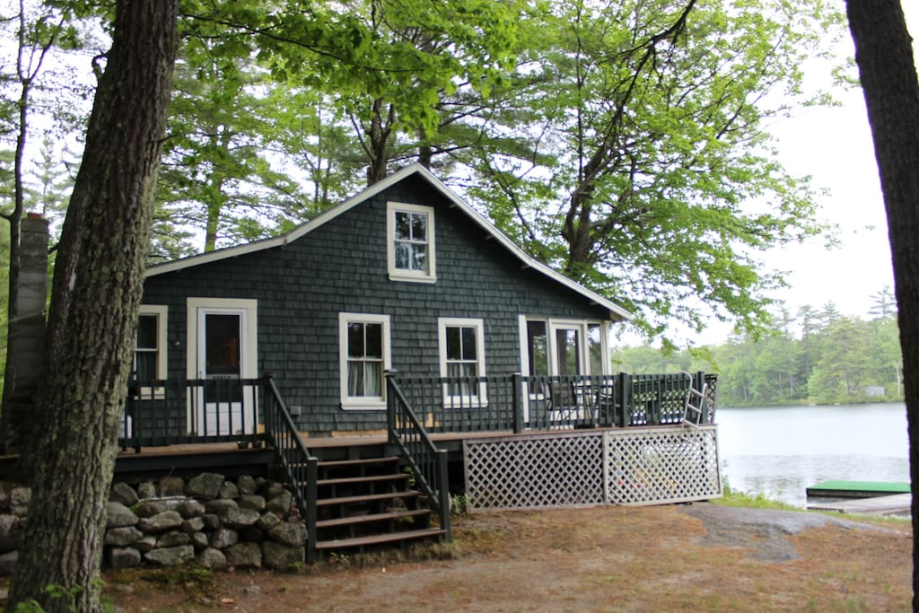 the cottage sits just 10 ft. from the water. driveway can hold three or four vehicles.