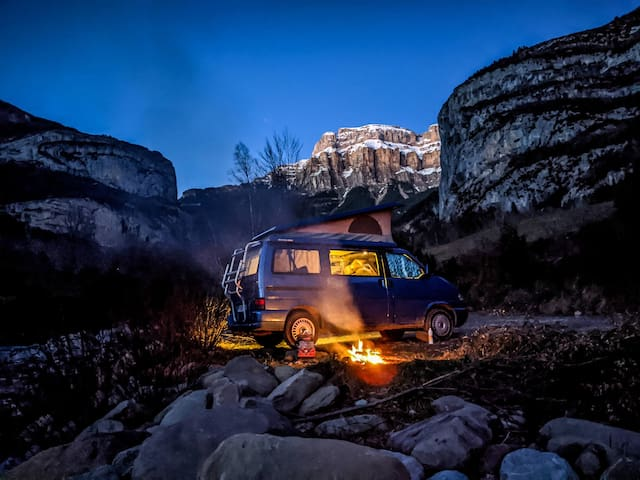 Direction le Sahara en VW California Westfalia !