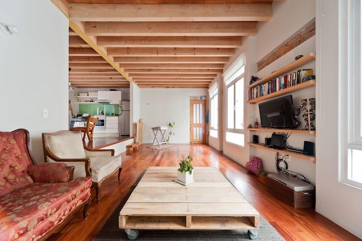 Sunny comfy flat,great location! - Mexico City - Apartmen
