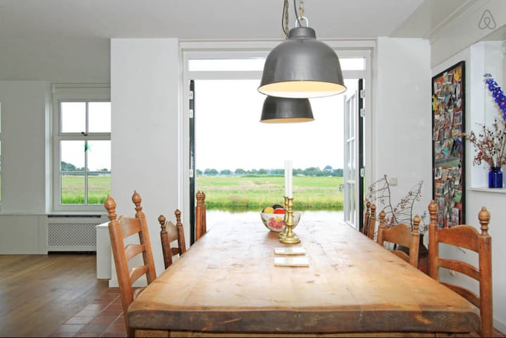 Waterfront home near Amsterdam - Broek in Waterland - Casa