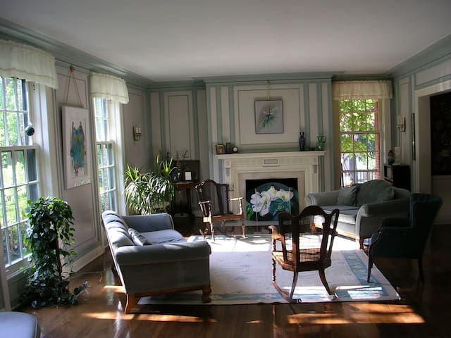 Our beautiful living room is available for guests.