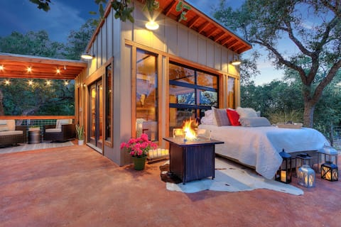 The Glass House: Hill Country Tiny Home Escape