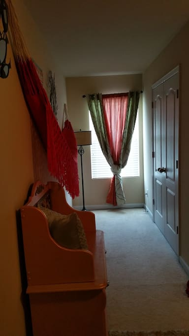 Dressing area with closet
