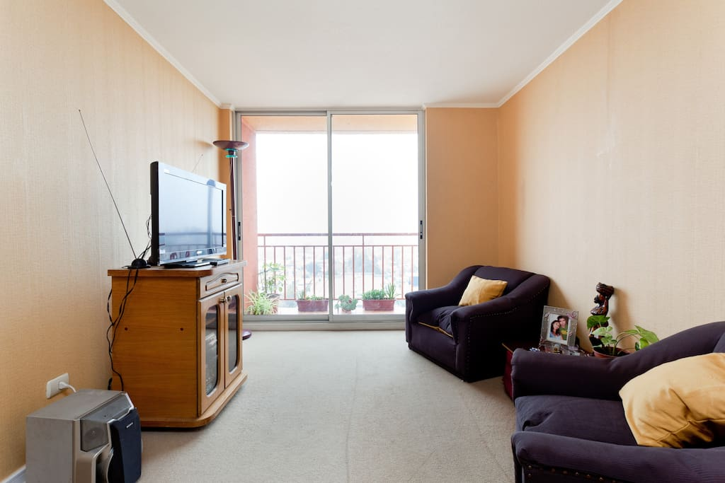 Comfortable room with cheerful host