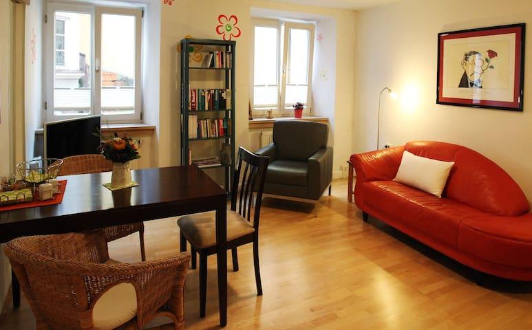 Hübsche Wohnung in der Innenstadt - Landshut - Apartamento