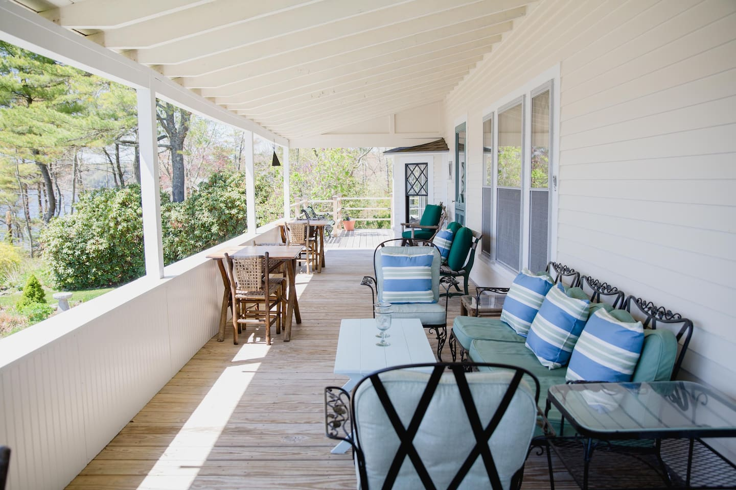 50 Feet long, and twelve feet deep, the front porch offers comfortable seating to enjoy peace and quiet!