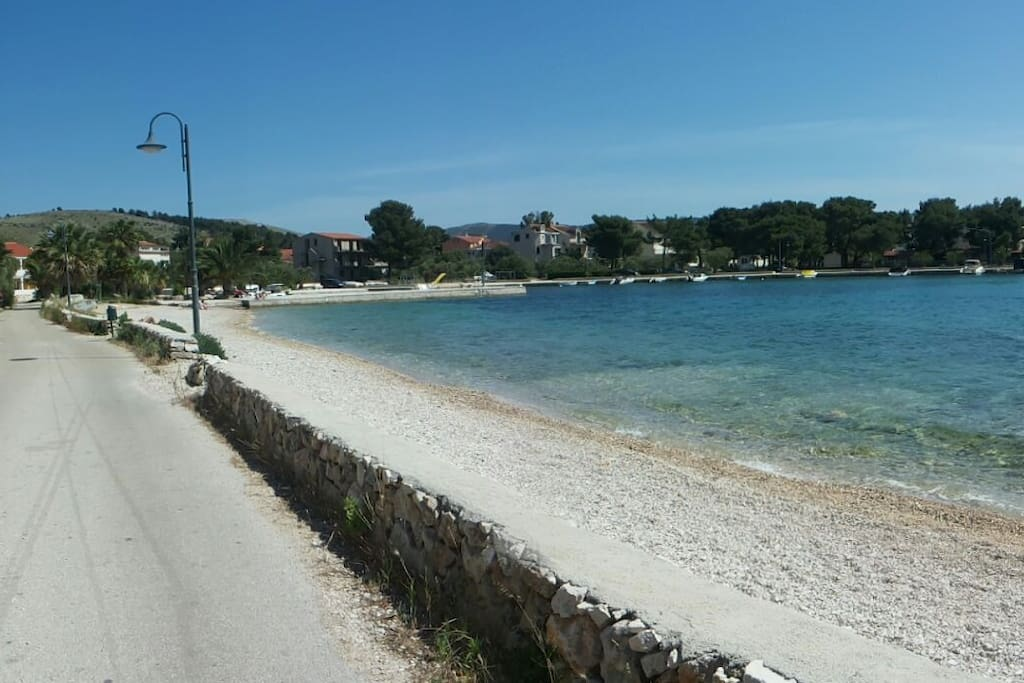 The beach - right in front of the house