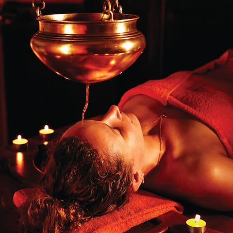 Guests can look forward to Ayurvedic therapy and massage.