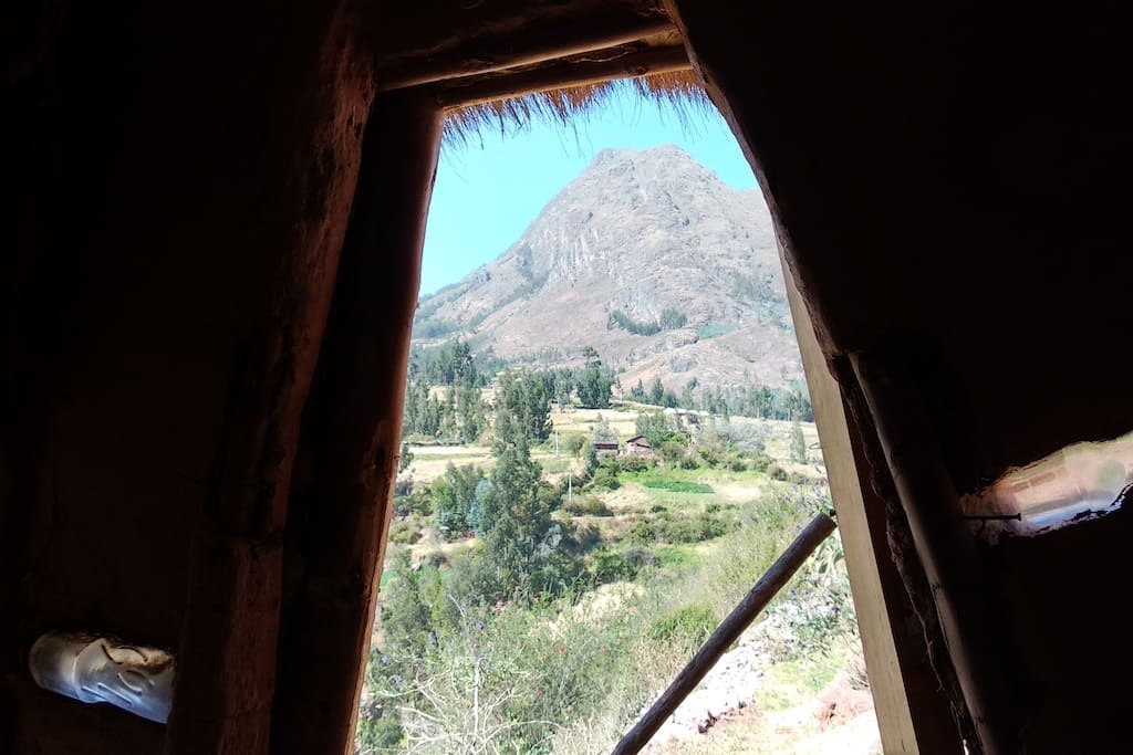 Inside of your hut - the view