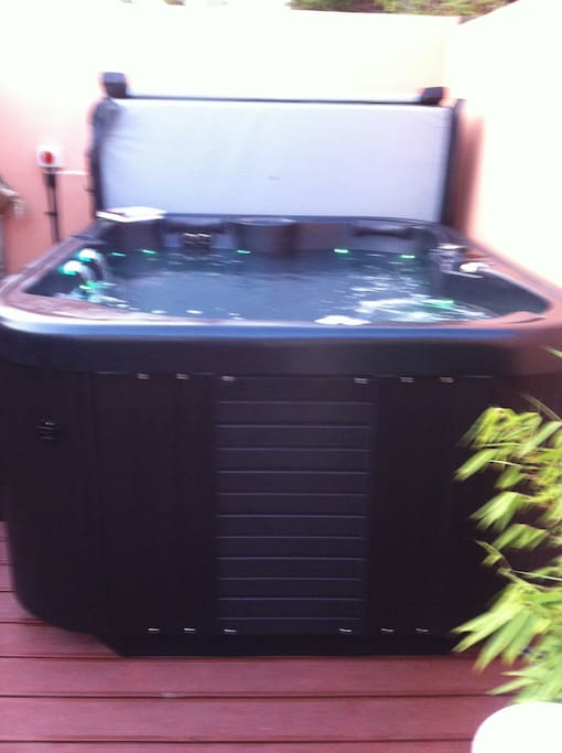 gorgeous hot tub ready for you after a day of holiday fun