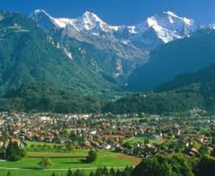 Interlaken - ideale Lage für viele Ausflüge