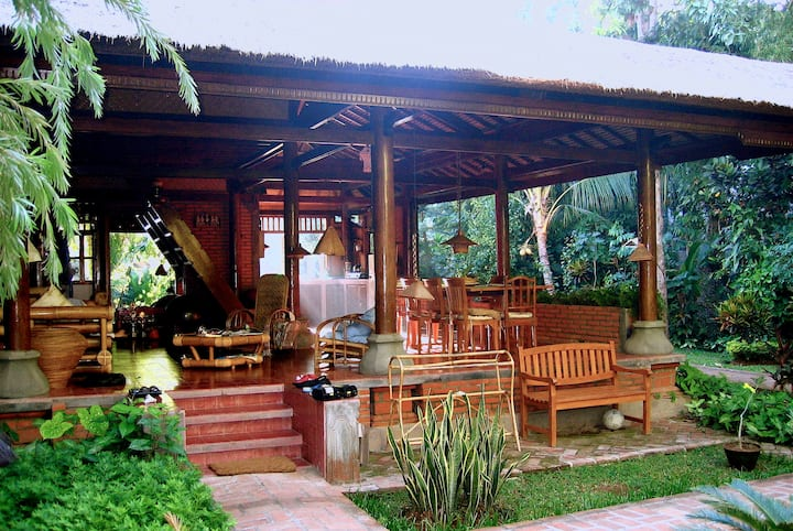 Wantilan, a unique Balinese house at Lovina Beach