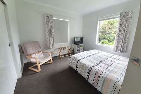 Bedroom, private bathroom and off street parking