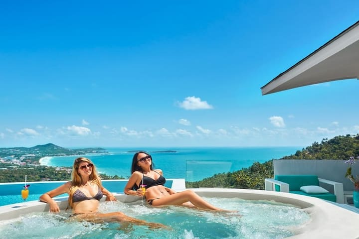Villa Infinity Seaview  Jacuzzi in Chaweng Noi