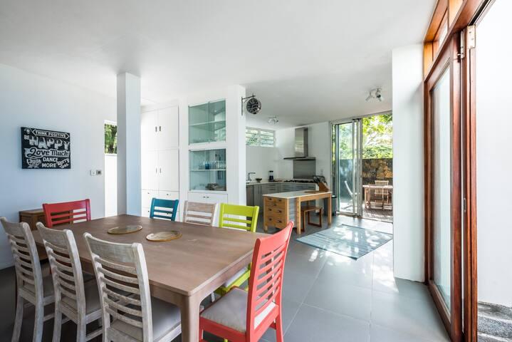 Contemporary beach villa .  Private path to beach.