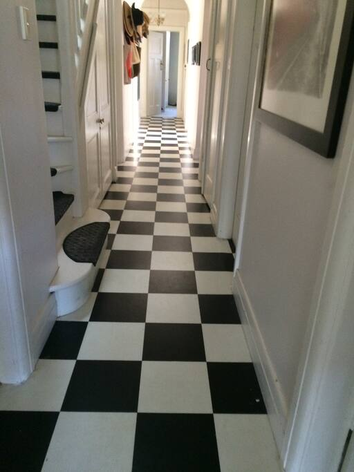 Traditional hallway layout