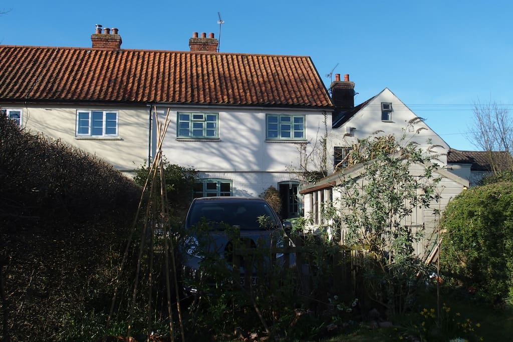 View of the house from the front garden