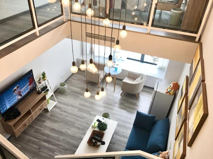 地铁三号线旁,西南石油大学边高品质北欧风loft双床房