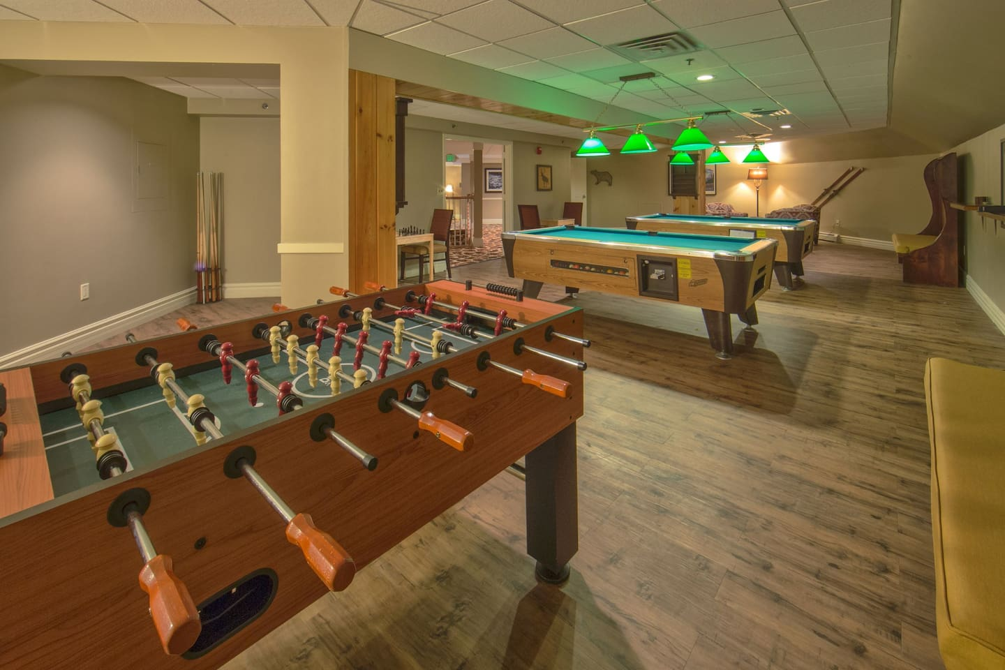 If the kids have had enough of the pool, take them to the shared games room.