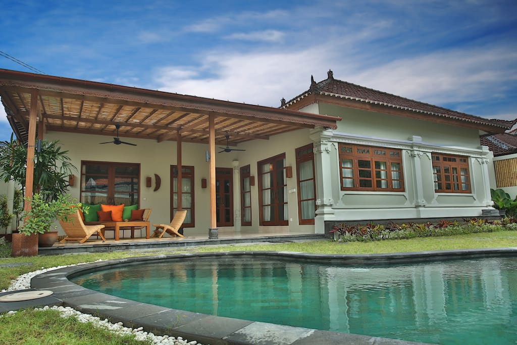 Balinese style with western comfort in this new 3 bedroom villa