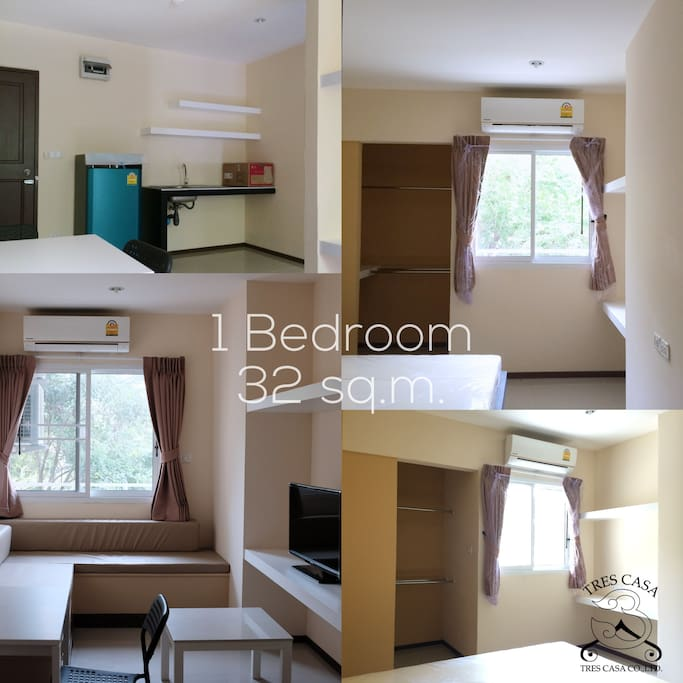AVAILABLE  1 Bedroom (32 sq.m.) 1 Bathroom with water heater Kitchen Corner