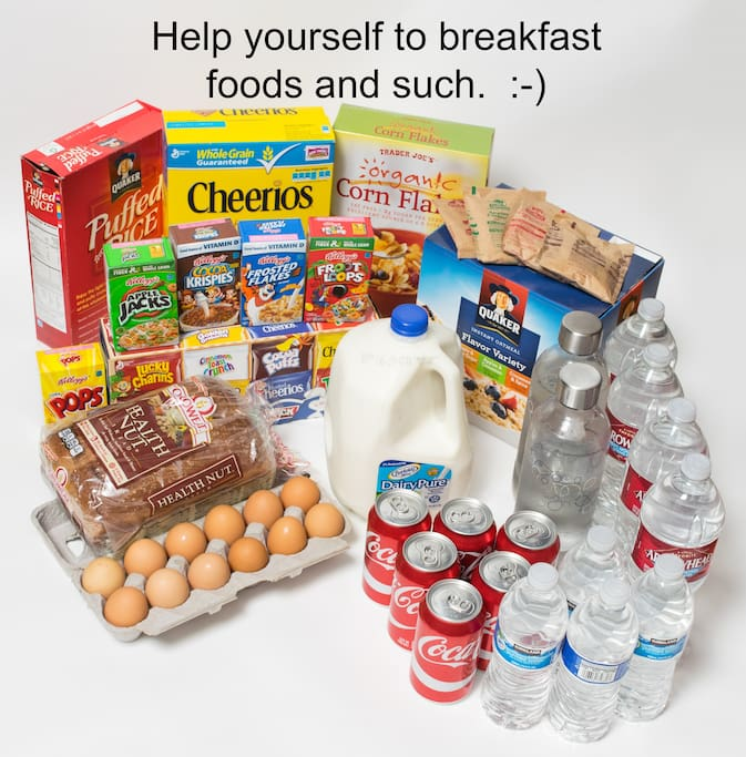 Enjoy breakfast foods and drinks.
