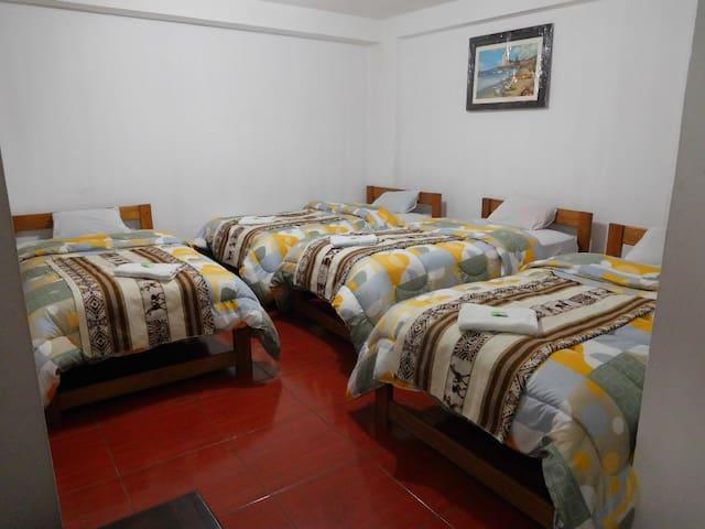 Cama/dormitory/Sol naciente hostal/MachuPicchu