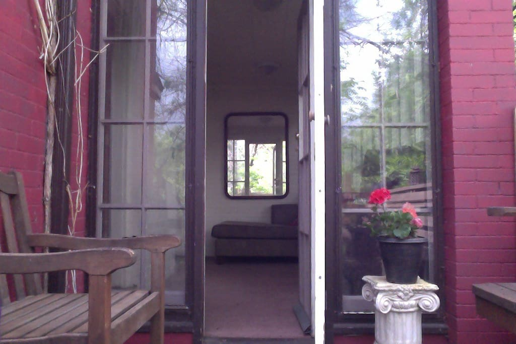 View from the deck into the tea room