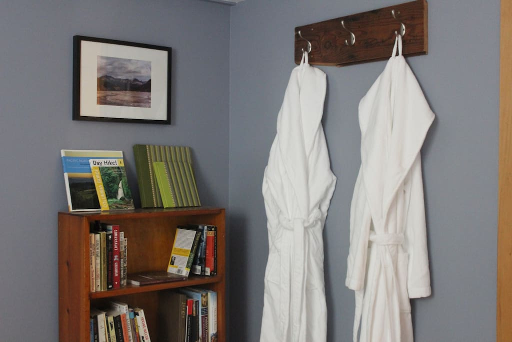 Leave/take a book shelf, your robes