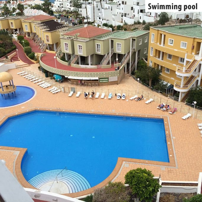 Three swimming pools in the apartment complex. One suitable for small children.
