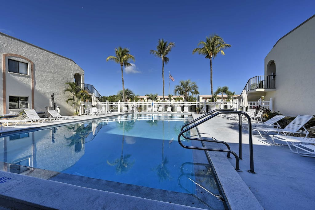 Located in the Casa Bella Condos, you'll enjoy access to an abundance of resort amenities, including this heated swimming pool.
