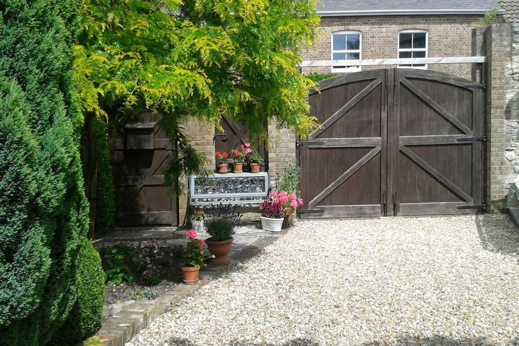 Walled gardens offering seclusion and privacy
