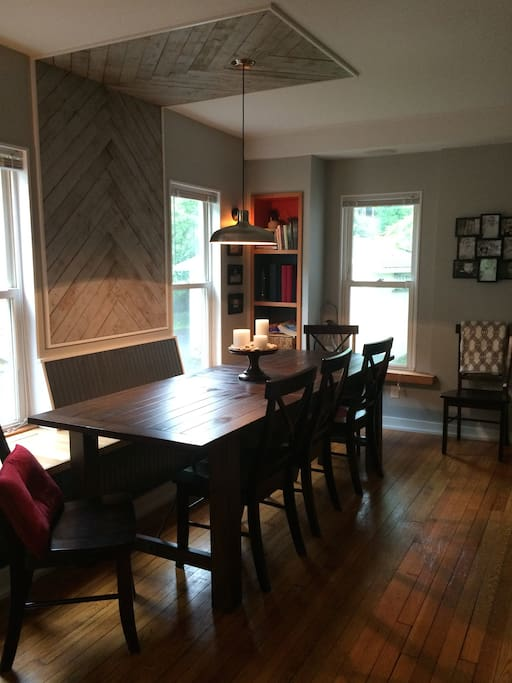 large dining room table seats 8 comfortably