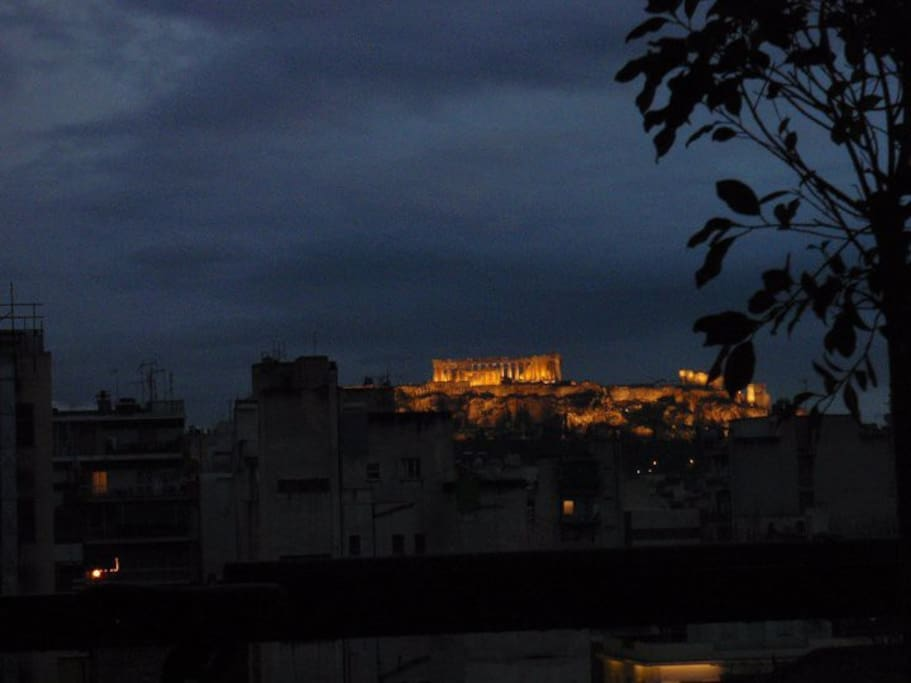 acropolis view from my balcony