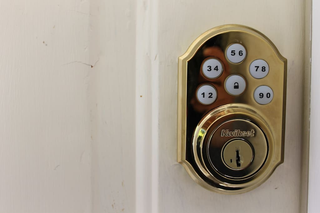 Keypad used to unlock home