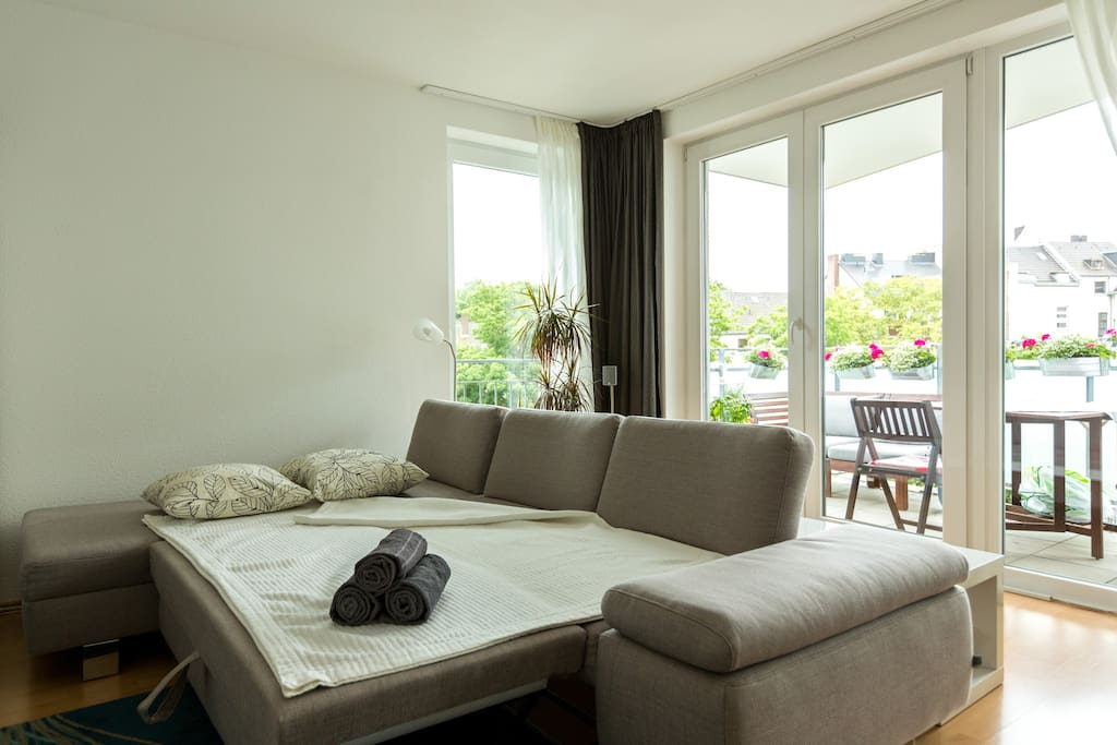 Living Room with convertible sofa for 2 additional persons