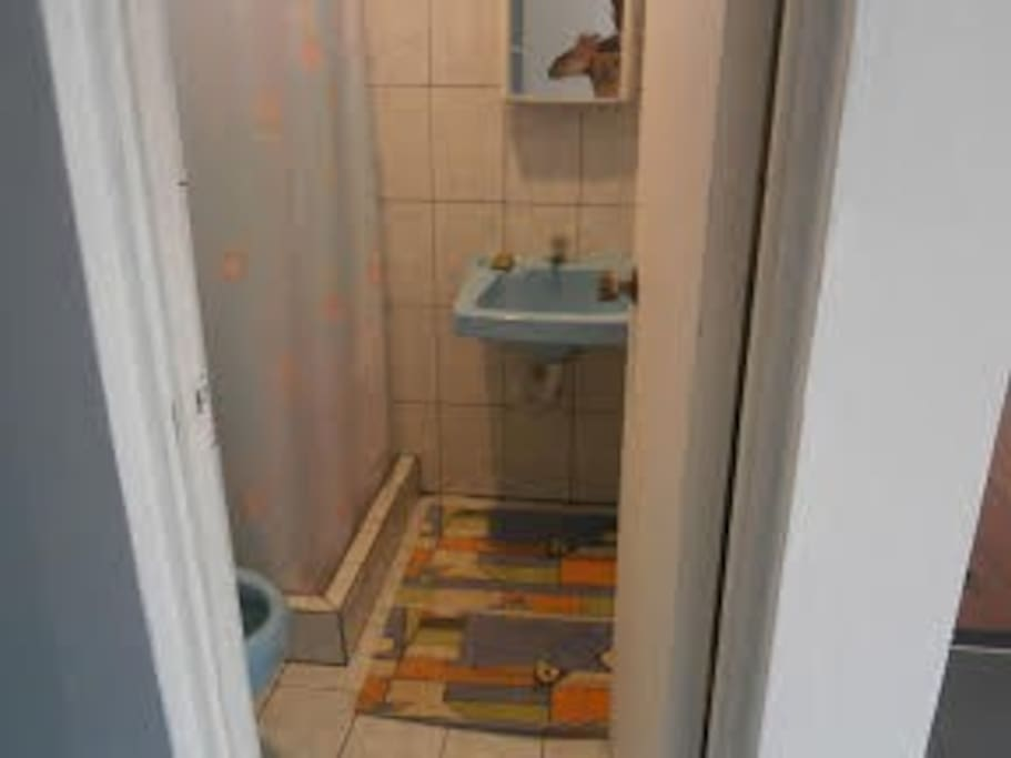 El baño y servicio sanitario.